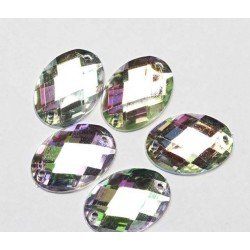 Sewing crystals 25х18mm (7706) 5 pcs.